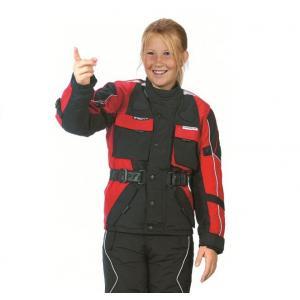 Dětská bunda na motorku Roleff černo-červená