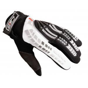 MX rukavice na motorku Pilot čierno-biele