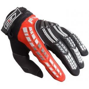 MX rukavice na motorku Pilot čierno-červené