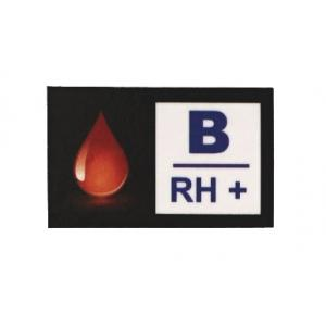 Nálepka s krevní skupinou B RH+