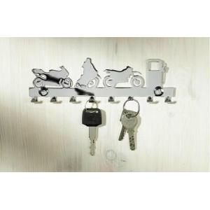 Vešiak na kľúče chrómovaný - 8 háčikov