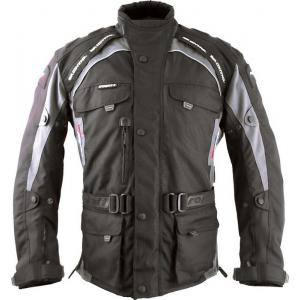 Bunda na motorku Roleff Liverpool čierno-sivá