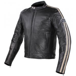 Bunda na moto Tschul 640 čierno-béžová