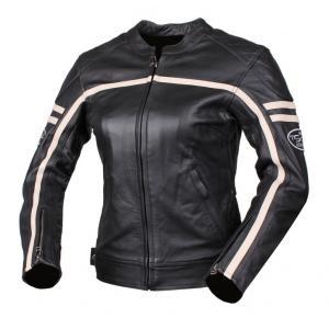 Dámska bunda na moto Tschul 635 čierno-béžová