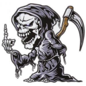 Nálepka Skull ľavá