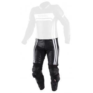 Pánske nohavice na motorku RSA Virus čierno-biele