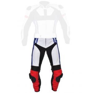 Pánske nohavice Tschul 580 bielo-červeno-modro-čierne