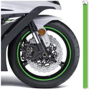 Reflexná páska na ráfky Print fluo zelená