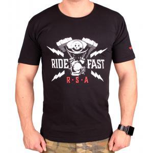 Tričko RSA Ride Fast čierne