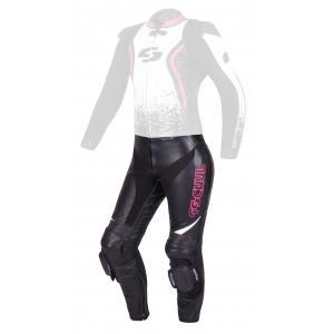 Dámske nohavice Tschul 586 čierno-bielo-ružové