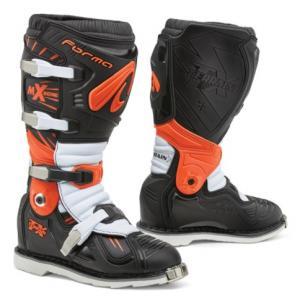 Čižmy na motocykel Forma Terrain TX čierno-oranžovo-bielej