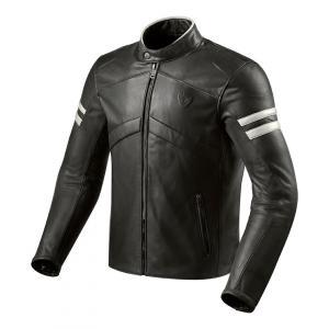 Bunda na motorku Revit Prometheus čierno-biela výpredaj