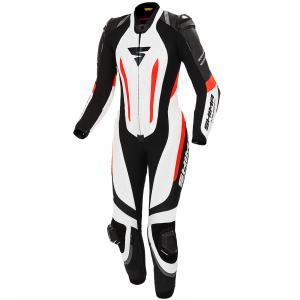 Dámska jednodielna kombinéza Shima Miura RS bielo-čierno-fluo červená