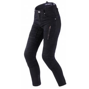 Dámske jeansy na motocykel Street Racer Stretch II CE čierne