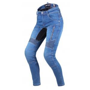 Dámske jeansy na motocykel Street Racer Stretch II CE modré