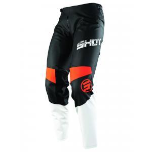 Detské motokrosové nohavice Shot Devo Slam čierno-bielo-oranžové výpredaj