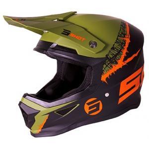 Motokrosová prilba Shot Furious Storm čierno-zeleno-oranžová výpredaj