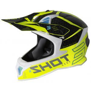 Motokrosová prilba Shot Lite Core čierno-bielo-fluo žltá výpredaj