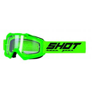 Motokrosové okuliare Shot Assault Solid fluo zelené