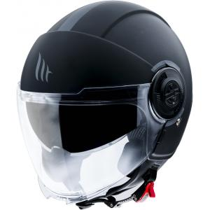 Otvorená prilba na motocykel MT Viale čierna matná