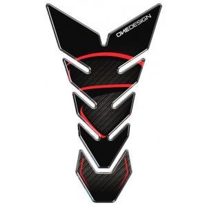 Polep palivovej nádrže Print - Black Edition čierno-červený
