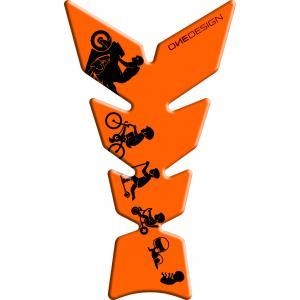 Polep palivovej nádrže Print - Moon fluo oranžový
