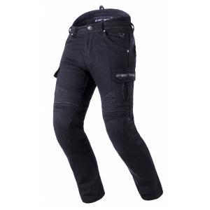 Predĺžené jeansy na motocykel Street Racer Cargo CE čierne