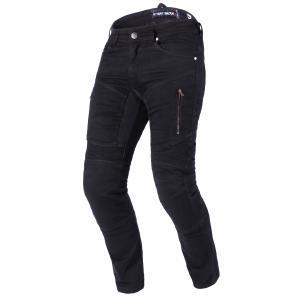 Predĺžené jeansy na motocykel Street Racer Stretch II CE čierne