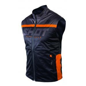 Softshellová vesta Shot Lite čierno-oranžová