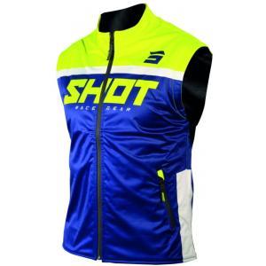 Softshellová vesta Shot Lite modro-fluo žltá