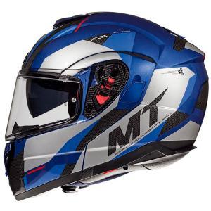 Vyklápacia prilba na motocykel MT Atom SV TRANSCEND E7 modrá