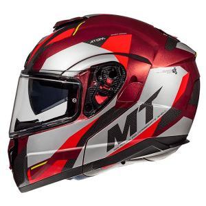 Vyklápacia prilba na motocykel MT Atom SV TRANSCEND F5 červená