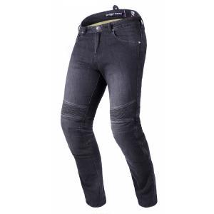 Skrátené jeansy na motocykel Street Racer Spike II CE čierne
