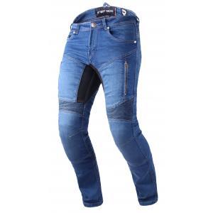 Skrátené jeansy na motocykel Street Racer Stretch II CE modré