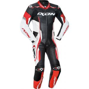 Detská kombinéza na motocykel IXON Vortex čierno-bielo-červená