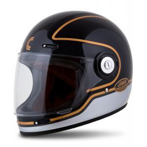 Integrálna prilba na motorku Cassida Fibre Jawa Sport čierno-strieborno-zlatá