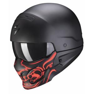 Prilba Scorpion EXO-COMBAT EVO Samurai čierno-červená