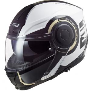 Vyklápacia prilba na motocykel LS2 FF902 Scope Arch bielo-čierna