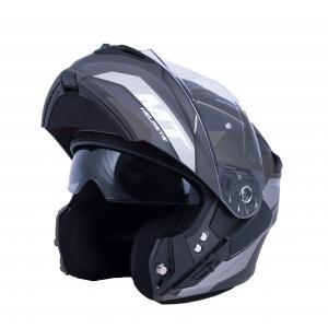 Vyklápacia prilba na motocykel MT Storm ST-ONE čierno-šedá