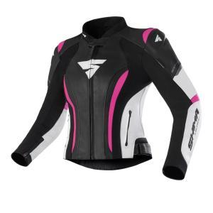 Dámska bunda na motocykel Shima Miura 2.0 čierno-bielo-ružová
