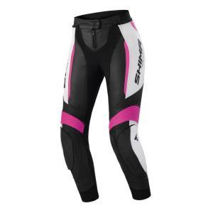 Dámske nohavice na motocykel Shima Miura 2.0 čierno-bielo-ružové