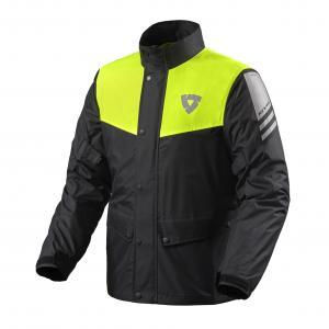 Moto bunda do dažďa Revit Nitric 3 H2O čierno-fluo žltá