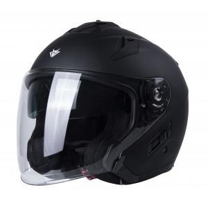 Otvorená prilba na motocykel RSA Active čierna matná