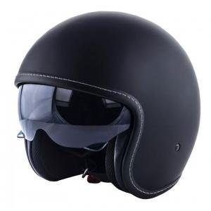 Otvorená prilba na motocykel RSA Shadow čierna matná