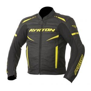 Bunda na motorku Ayrton Raptor čierno-fluo žltá výpredaj