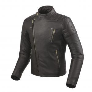 Bunda na motorku Revit Vaughn tmavo hnedá výpredaj