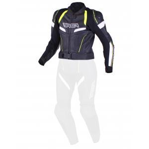 Dámska bunda RSA Speedway čierno-bielo-fluo žltá výpredaj