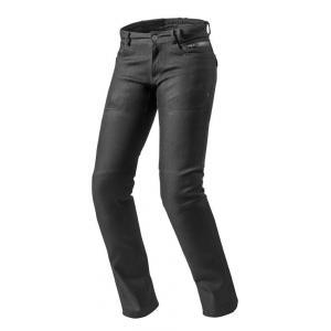 Dámske jeansy na motorku Revit Orlando H2O RF čierne výpredaj