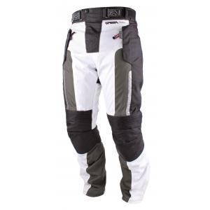 Kalhoty na motorku RSA Greby černo-bílé čierno-biele