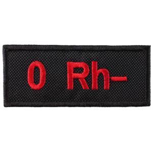 Nášivka s krvnou skupinou 0 Rh-